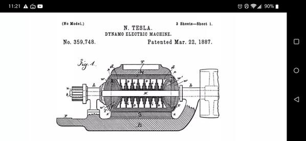 Leak Project Tesla patent image matching bottom of Manuscript image
